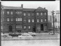 Image of Baltimore Flats apartments, photo by Herbert A. Flamm, 1956