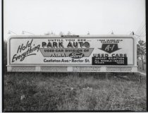 Image of Billboard for Park Auto, photo by Herbert A. Flamm, 1952