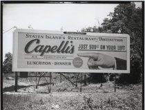 Image of [Billboard, Capelli's Restaurant] - Negative, Film