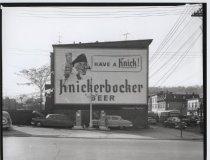 Image of Billboard for Knickerbocker Beer, photo by Herbert A. Flamm, 1956