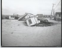 Image of Byrne's Beach Club damaged building, photo by Herbert A. Flamm, 1951