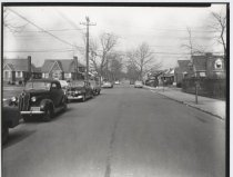 Image of Clawson Street and Locust Avenue, photo by Herbert A. Flamm, 1952