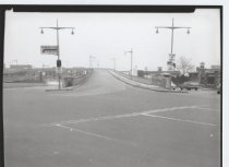 Image of Staten Island ferry terminal entrance ramp, photo by Herbert A. Flamm, 1961