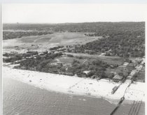 Image of Aerial view of Woodland Beach, photo by Herbert A. Flamm, 1954