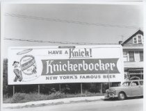 Image of Billboard for Knickerbocker Beer, photo by Herbert A. Flamm, 1957