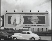 Image of Billboard for Weissglass Dairy, photo by Herbert A. Flamm, 1955