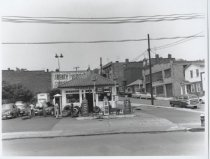 Image of Van Hoesen Bros. service station, photo by Herbert A. Flamm, 1955