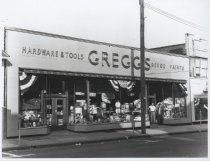 Image of Gregg's Hardware, photo by Herbert A. Flamm, ca. 1950