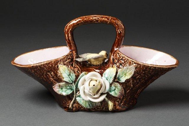 Majolica Basket  ca. 1870-1899