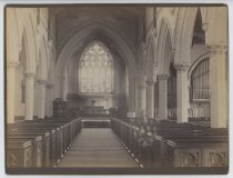 Image of Interior of St. John's Church, photo by Alice Austen, 1886