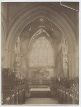 Image of St. John's interior, photo by Alice Austen, 1894