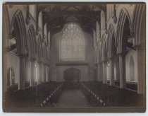 Image of Interior of St. John's Church from chancel, photo by Alice Austen, 1886