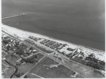 Image of Aerial view of Graham Beach, photo by Herbert A. Flamm, 1954