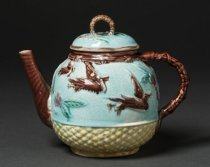 Image of teapot, view with spout at left
