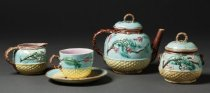 Image of teapot with matching pieces from tea set
