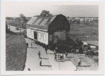 Image of Crocheronn House moving to Richmond Town, 1987