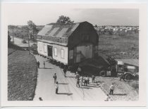 Image of [Crocheron House being moved] - Print, Photographic