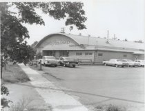 Image of Knotty Pine Lanes bowling alley, photo by Herbert A. Flamm, ca. 1960s