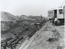 Image of Seaside Boulevard construction project, photo by Herbert A. Flamm, 1957