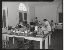 Image of Staten Island Hospital laboratory, photo by Herbert A. Flamm, 1953