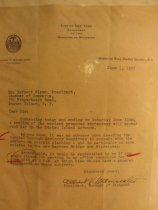 Image of Borough President Maniscalco letter to Herbert Flamm, 1955