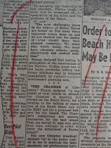 Image of news clipping about Herbert Flamm, February 24, 1955 (middle portion)