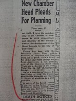 Image of news clipping about Herbert Flamm, February 24, 1955 (final portion)
