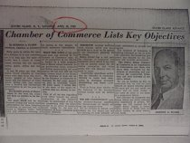 Image of news clipping about Herbert Flamm, April 30, 1955