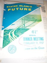 Image of 1957 dinner meeting program (cover)