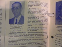 Image of 1957 dinner program, Michael S. Diamond biography
