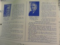 Image of 1957 dinner program, Boylan and Flake biographies