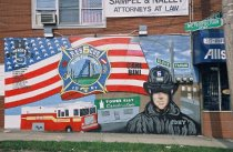 Image of Mural commemorating Carl Bini, photo by Amesse Photography, 2002