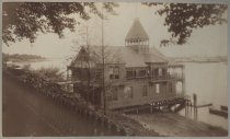 Image of Staten Island Athletic Club boathouse, photo by Isaac Almstaedt, ca. 1885