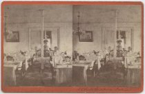 Image of N.Y. Yacht Club House interior, photo by Isaac Almstaedt, ca. 1885