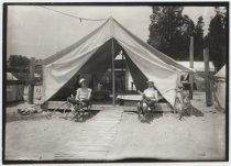 Image of Camp at Cedar Grove, photo by Coleman Benedict, ca. 1900-1910