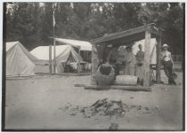 Image of Kitchen of the camp - Print, Photographic