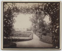 Image of Gardens and greenhouse, Louis H. Meyer estate, ca. 1880-1890