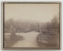 Image of Louis H. Meyer estate, grape arbor and garden, ca. 1880-1890