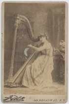 Image of [Portrait of Maud Morgan with a harp] - Print, Photographic