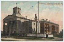Image of Third County Courthouse and Richmond County Jail, ca. 1908