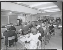 Image of Staten Island Academy classroom, photo by Herbert A. Flamm, 1966