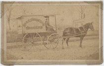 Image of Simonson Grocers wagon, photo by John E. Lake, ca. 1880s