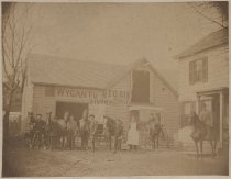 Image of Wygants Big Six Livery Stable, Port Richmond, ca. 1880s-1890s