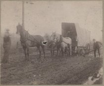 Image of Kernes Strawberry Farm Wagon on Sharrott Road, ca. 1900