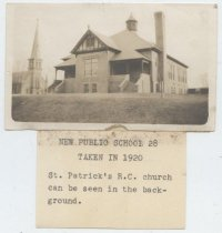 Image of Public School 28, 1920 (with attached label)