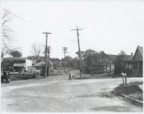 Image of Annadale railroad crossing, photo by William J. Grimshaw, ca. 1920-1925
