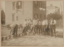 Image of Paving a street, ca. 1900-1920s
