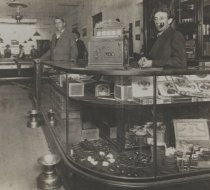 Image of detail, Pool hall interior, photo by John E. Lake, ca. 1900