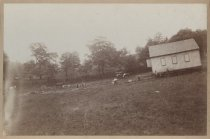 Image of Dejonge house moving, ca. 1880s-1900s