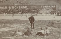 Image of detail, Thompson's Stadium, photo by George Bear, 1895
